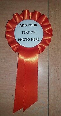 £3.50 • Buy Personalised Rosette Centre Dog Show Birthday Party Event Many Colours Of Ribbon