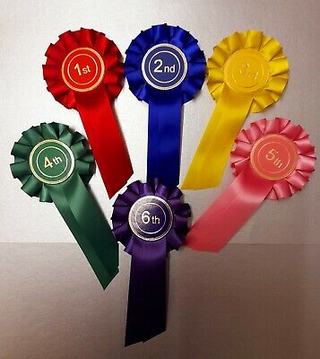 £5.58 • Buy Rosettes 6 Dog, Horse, Animal Show 1st To 6th