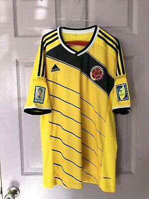 addc29d68 Colombia National Team Men s Adidas Soccer Jersey - Large Fifa World Cup  Brazil • 29.99