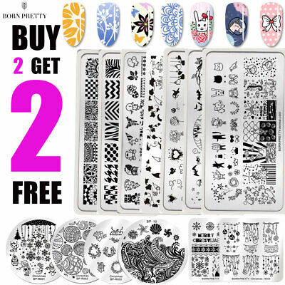 $1.29 • Buy BORN PRETTY Spring Summer Nail Art Stamping Plates Image Stamp Templates Tool