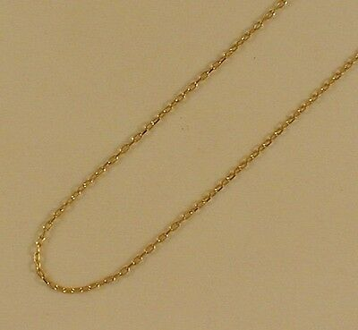 9 Ct. GOLD HALL MARKED DIAMOND CUT TRACE CHAIN 45 Cm • 49£