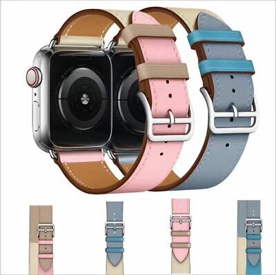 AU13.99 • Buy Leather Watch Band Belt Strap For Apple Watch Series 5/4/3/2/1 38/40/42/44MM