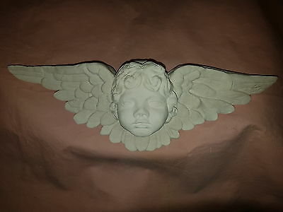 £22 • Buy Architectural Long Plaster Cherub Angel Wings Wall Decor Plaque Shabby Chic New