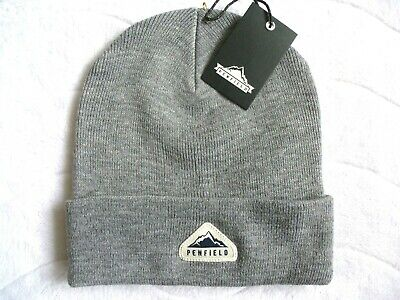 PENFIELD USA Grey Beanie Hat - Super Comfy & Warm - One Size Adult - Toque NEW • 17.99£