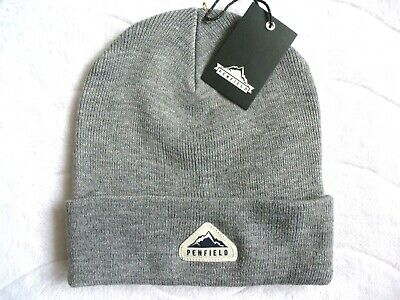 PENFIELD USA Grey Beanie Hat - Super Comfy & Warm - One Size Adult - Toque NEW • 24.99£