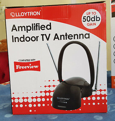 Active Digital Indoor TV Antenna Aerial 50dbi With 4g Filter Freeview HD 1080 • 19.95£