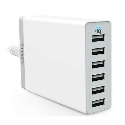 AU81 • Buy Anker PowerPort 6 Port USB Hub Wall Charger 60W White Fast Charge Samsung Apple