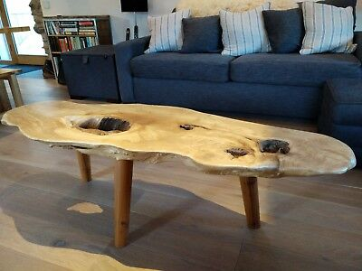 £1200 • Buy BESPOKE Live Edge Spalted Willow & Yew Solid Wood Natural Feature Coffee Table