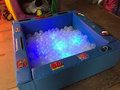 £525 • Buy SENSORY SOFT PLAY BALL POND With LIGHTS And Base Mat 4.6 X 4.6ft MADE TO ORDER A