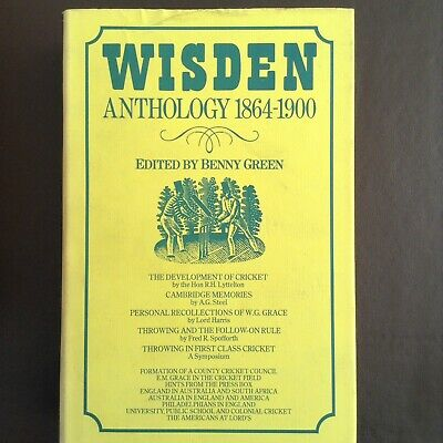 £20 • Buy WISDEN ANTHOLOGY 1864-1900 Edited By Benny Green - Fixtures, Scores, Players Etc
