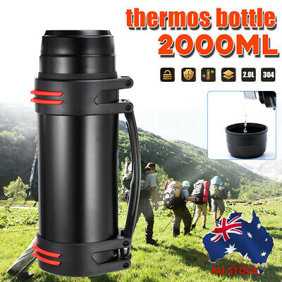 AU28.99 • Buy AU 2L Stainless Steel Thermos Bottle Travel Mug Flask Thermal Water Insulated