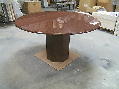 Designer Solid Red African Granite Dining Or Office Table  130cm Dia  • 690£