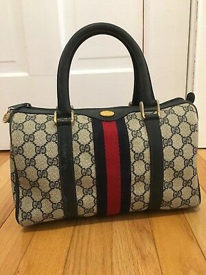 19c8977f396c5e ... Doctor Bag Satchel Speedy Purse Handbag. 699.00$ View Details. Authentic  Vintage Gucci GG Canvas Leather Web Stripe Boston Speedy Hand Bag • 650.00$