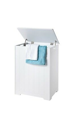 £63.99 • Buy Chester LARGE LAUNDRY CABINET, White, Wood, Storage Bin - Huge 90L Capacity!