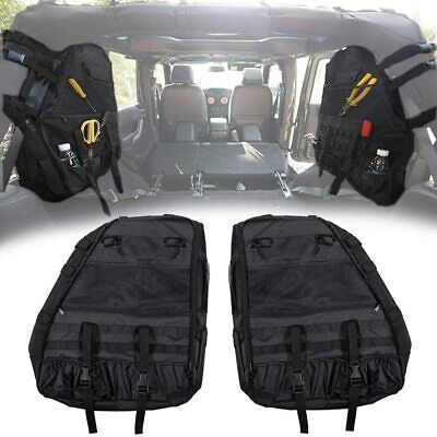 AU122.35 • Buy 2x Roll Bar Storage Bag Cage W/ Multi-Pockets For Jeep Wrangler JK JL 1997-2020