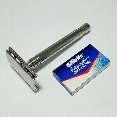 AU13.55 • Buy Double Edge DE Safety Razor +5 Gillette Blades - Mens Womens Shave Shaver