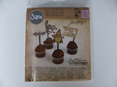 £12.95 • Buy *NEW* TIM HOLTZ Sizzix Framelits Dies, Texture Fades & Stamps 'TRICK OR TREAT'