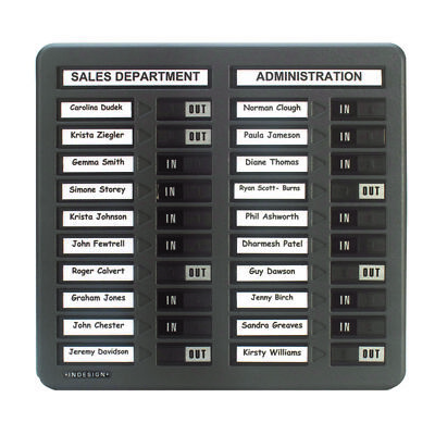 Indesign In/Out Board 20 Names Grey WPIT20I • 69.54£