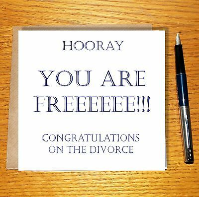 Divorce Cards Congratulations On Your Divorce Happy Divorce Divorce Party • 3£