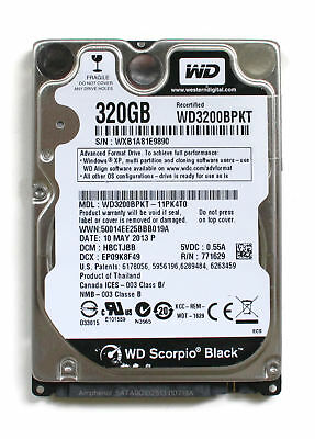 AU246.96 • Buy Wd Scorpio Black 320gb 2.5'' Hdd, 10may2013 P, Dcm: Hbctjbb