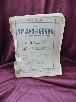 The Yeomen Of The Guard  Musical Score  • 8£