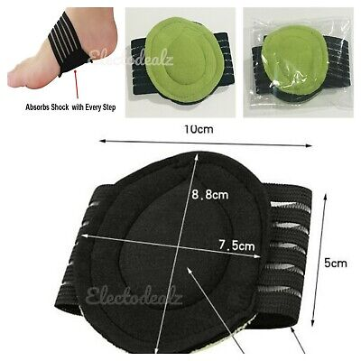 FOOT ARCH SUPPORT PADS For Plantar Fasciitis Pain Relief Insole Fallen Ankle Aid • 2.98£