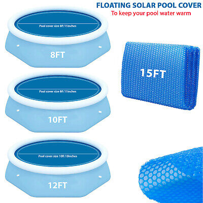 £16.89 • Buy Solar Pool Cover For 8, 10, 12 & 15ft Fast Set Inflatable Paddling Swimming Pool