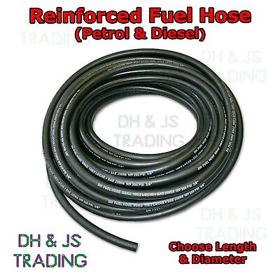 Reinforced Rubber / Nitrile Fuel Pipe - Petrol / Diesel Fuel Line Hose Pipe NBR • 4.45£
