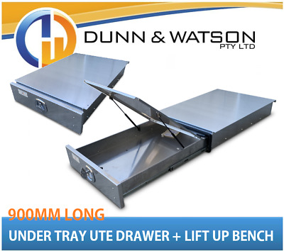AU1125 • Buy 900mm Aluminium Under Ute Tray Drawer (Trundle, Roller, Storage. 4x4, Bench 4wd)
