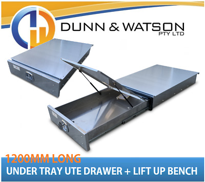 AU1300 • Buy 1200mm Aluminium Under Ute Tray Drawer (Trundle, Roller, Storage. 4x4 Bench 4wd)