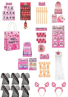 HEN PARTY BAG FAVOURS Bride To Be Girls Ladies Night Hen Do Goodies Filler UK • 1.99£