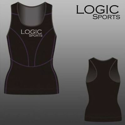 Logic Ladies Womens Base Layer Compression Running Sports Vest + Yoga/Gym Top  • 8.50£