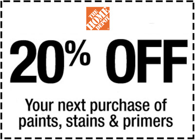 $1.69 • Buy Home Depot 20% Off Paint Stain Primers *In Store * 1 To 5 Mins EmaiI Delivered