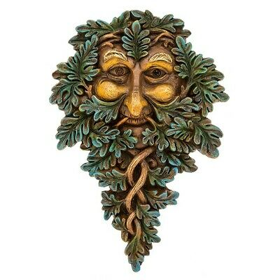 £13.99 • Buy GREEN MAN Of The Forest Wall Plaque Oak Guardian WOOD SPIRIT Pagan Wiccan