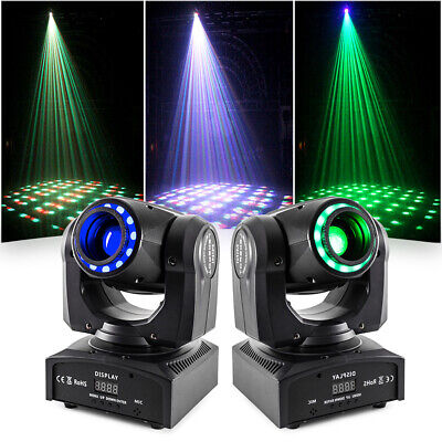 2X RGBW Moving Head Light Kaleidoscope LED Gobo DMX DJ Party Show Stage Lighting • 105.69£