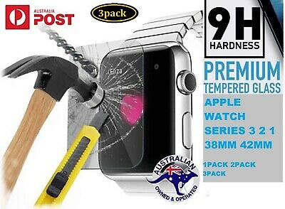 AU6.99 • Buy 3xpack 38 42mm Tempered Glass Screen Protector Apple I Watch Series 1 2 3 Cover
