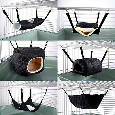 £8.84 • Buy Hammock For Ferret Chinchilla Rat Rabbit Pouch Bed Toy Pet House Quilted Black