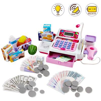 DeAO Toy Cash Register With Calculator, Scanner And Groceries Accessories (PINK) • 21.99£