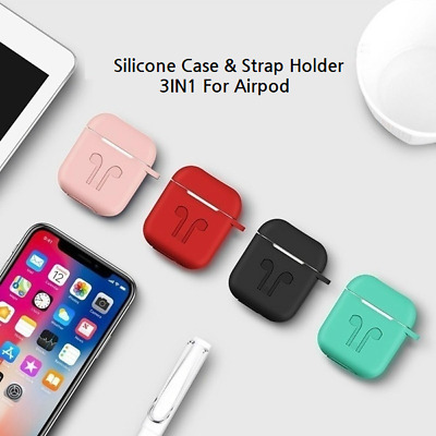 AU3.99 • Buy Shockproof Case For Apple Airpods Cover Skin Anti Lost Strap Holder Airpod Case