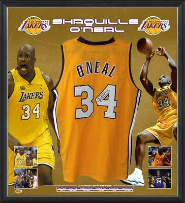 AU1295 • Buy Shaquille O'neal Hand Signed Los Angeles Lakers Jersey Nba Basketball Kobe