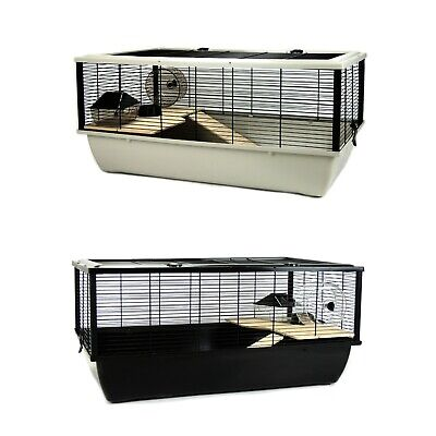 £52.24 • Buy Hamster Rat Mouse Cage Brand New With Wooden Platforms And Ladder For Small Pets