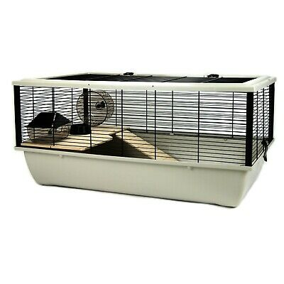 Grey Hamster Rat Mouse Chinchilla Cage Brand New - Wooden Platforms And Ladder • 53.43£