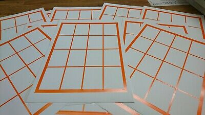 240 Self Adhesive Labels - Jam Jar Labels / Pricing Labels 42x57mm  White/orange • 3.99£
