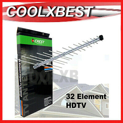 AU27.98 • Buy New Crest Tv Outdoor Roof Antenna 32 Element Digital Hdtv Vhf Uhf