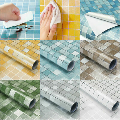 Kitchen Waterproof Anti-Oil Tile Decal Wall Sticker Self-adhesive Wallpaper  • 4.99£