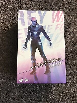 AU220 • Buy 1/6 Scale Hot Toys Amazing Spider-Man 2 Electro Figure. Brand New In Box