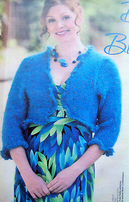 Ladies 3/4 Sleeve BOLERO SHRUG KNITTING PATTERN Mohair Chunky 30 - 40 Inch • 1.99£