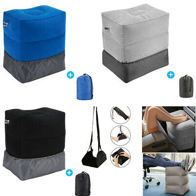 AU23.99 • Buy Inflatable Foot Rest Air Pillow Cushion Travel Office Car Leg Up Footrest Relax
