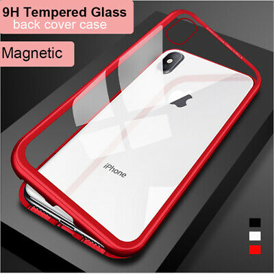 AU11.30 • Buy APPLE IPhone 11 Pro Max XS XR X 8 Plus Magnetic Case Metal Frame Tempered Glass