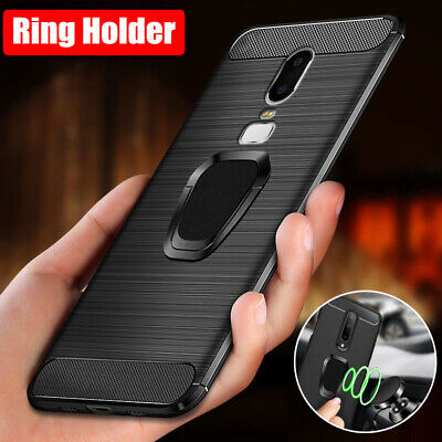 AU7.25 • Buy For OnePlus 7 Pro 6T 6 5T 5 3T 3 Ring Holder Shockproof Rubber Soft Case Cover